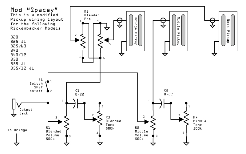 rickenbacker wiring diagram