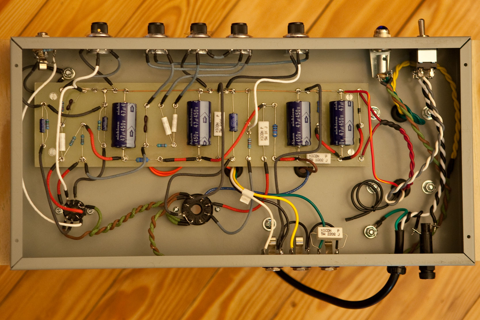 tube guitar amp AX84 P1ex DIY project photos, notes and ...